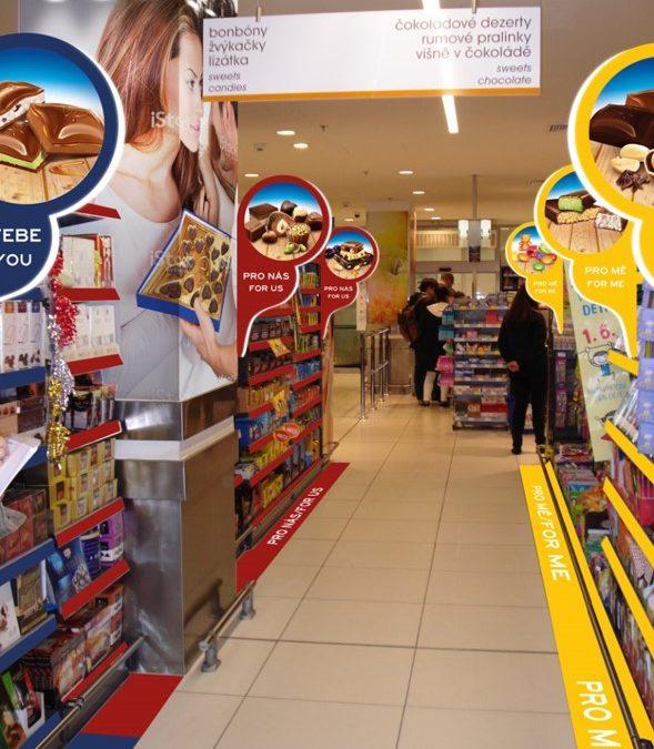 Redesign sekce cukrovinek pro Nestlé: využití reflexe nákupního chování