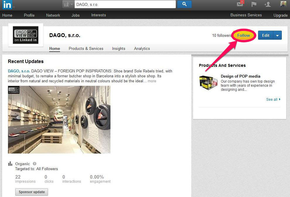 Follow DAGO news and views on Linked In !