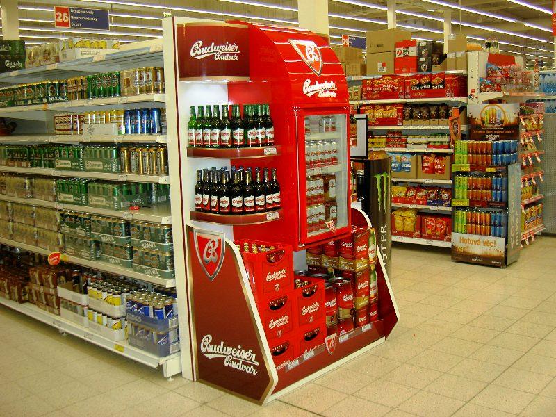 Unikátní display Budvar