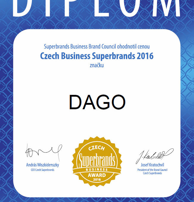 DAGO is superbrand of the year 2016