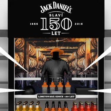 Jack Daniel's oslavil 150. výročí s originálními regály v Tescu