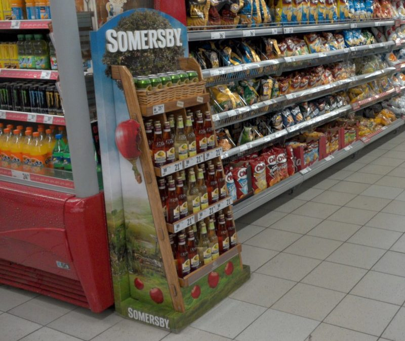 We win Shop! Global Award with Somersby display