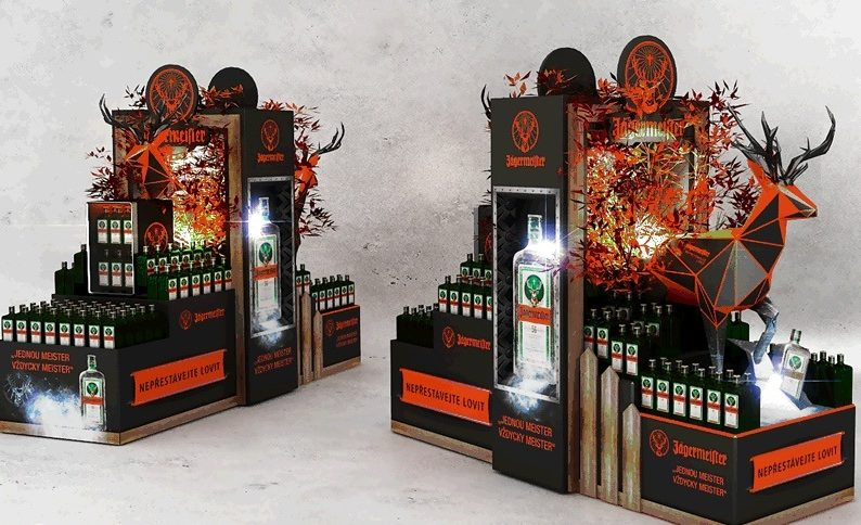 The deer origami from Jägermeister lures to the autumn atmosphere