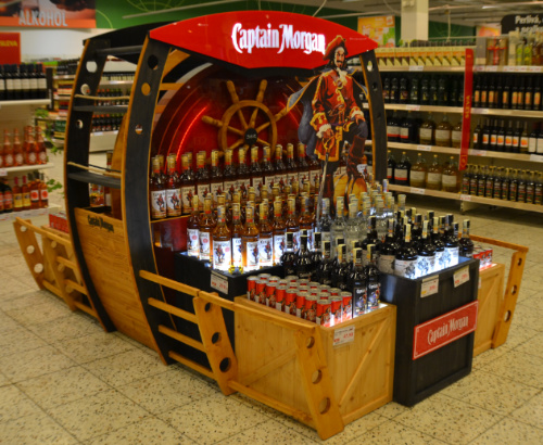 "Captain Morgan ""plows the waves"" of Globus stores again"
