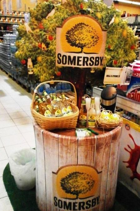 Sommersby promo tables for Budvar