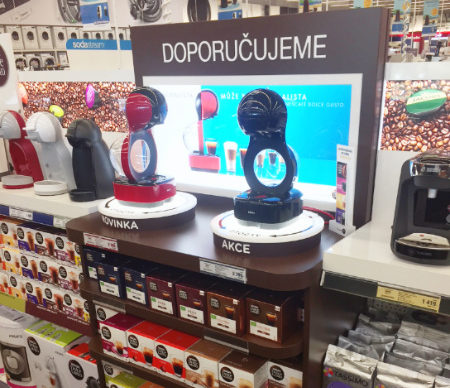 Together with Nestlé, we are improving the presentation of the capsule coffee in Electroworld stores