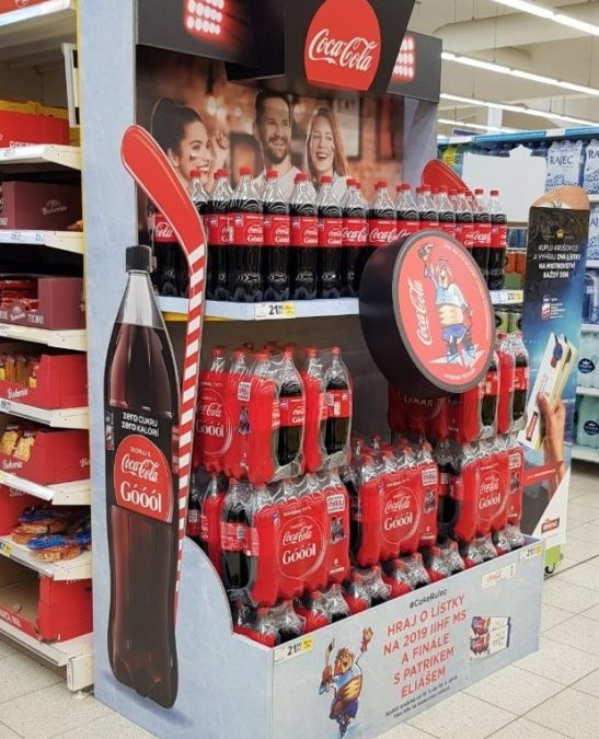 Endcap for Coca-Cola will pull you into the game
