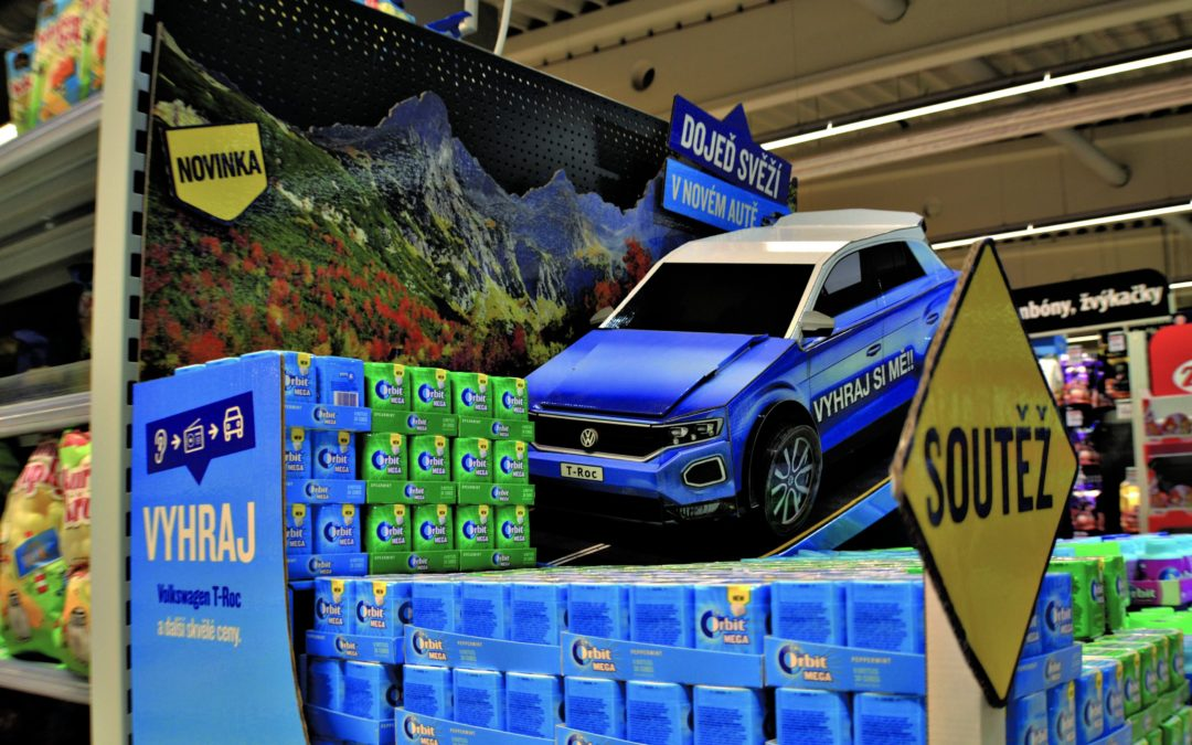 The animated car model dominated in Tesco and Globus stores