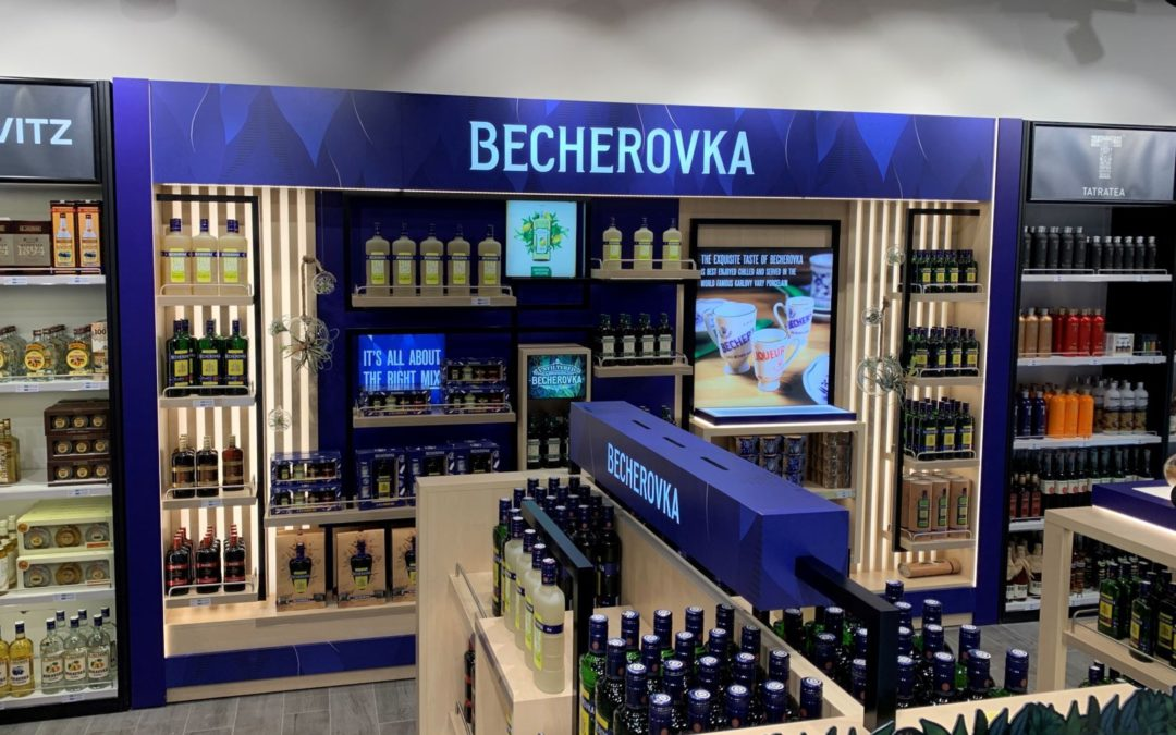 Becherovka shows the best at the airport