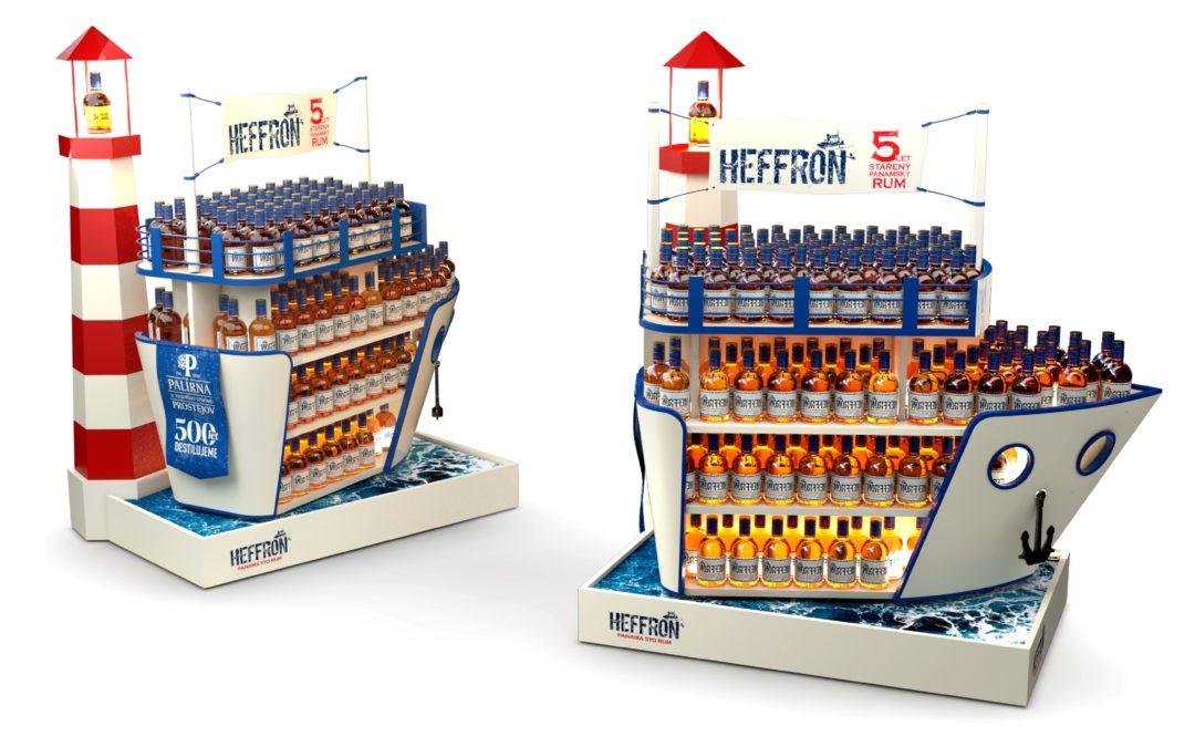 Nová značka rumu Heffron připlula k zákazníkům na lodi