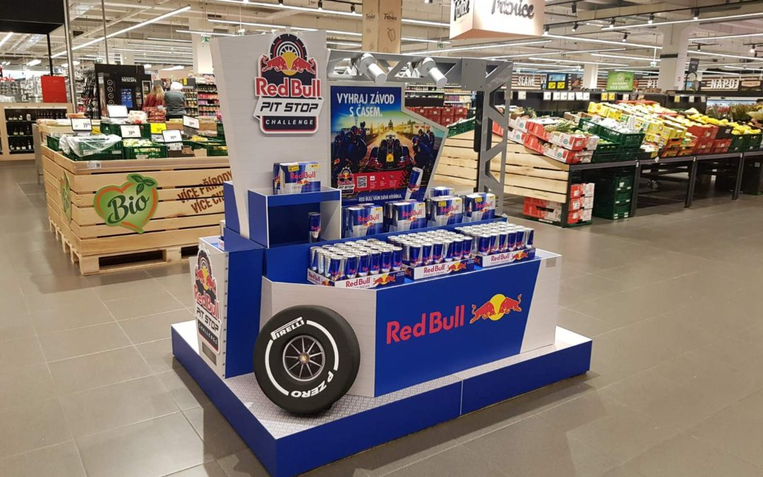 RED BULL DRIVES THROUGH CZECH AND SLOVAK STORES WITH FORMULA 1